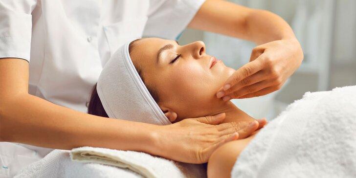 Kozmetické masáže tváre alebo manuálne či prístrojové hĺbkové čistenie pleti