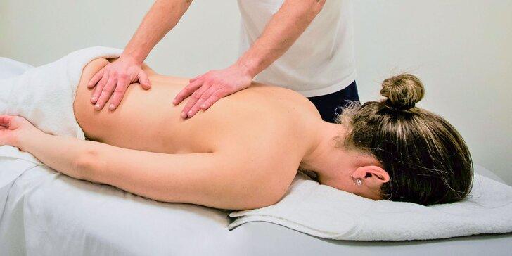 Klasické relaxačné alebo terapeutické masáže od fyzioterapeuta