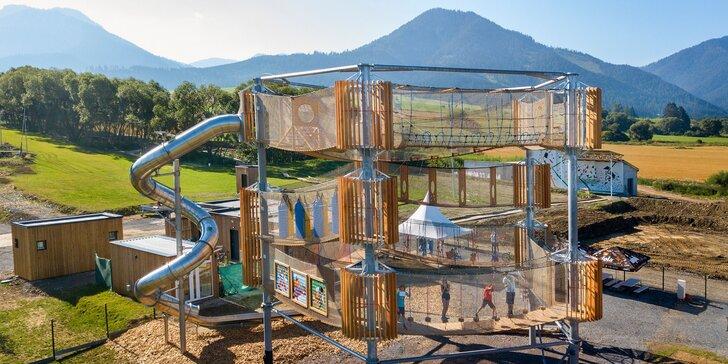Deň plný zábavy vo FUN CENTRE na Liptove: 3D Bludisko, lezecká stena, trampolíny, bikepark, kids zóna