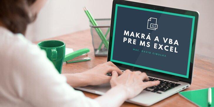 Ročný online kurz Makrá a VBA pre MS Excel s certifikátom