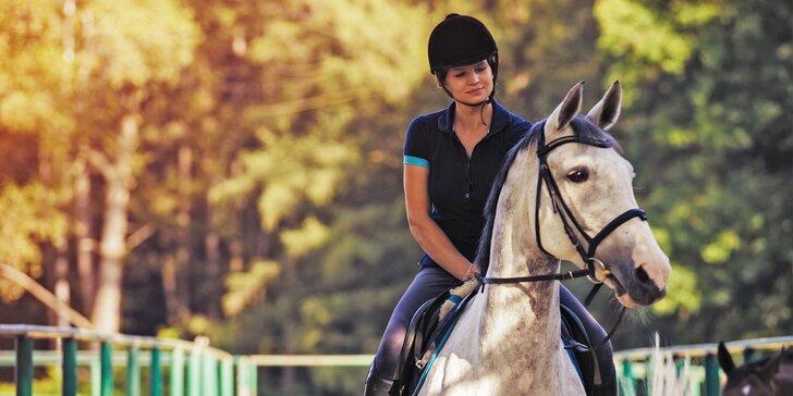 Lekcie jazdy či vychádzka na koni do prírody s inštruktorom