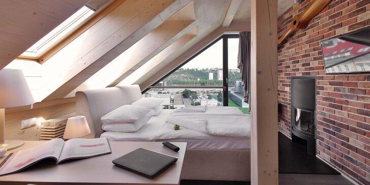 Romantika v Prahe: 4 * hotel s dizajnovými izbami, raňajky a relax vo wellness