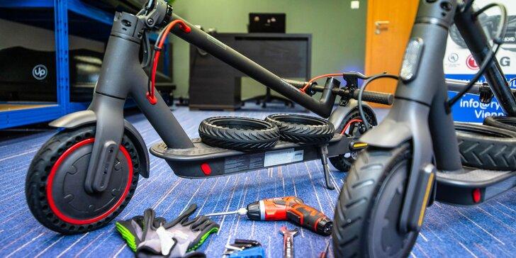 Servis kolobežiek XIAOMI: oprava defektu či výmena pneumatík