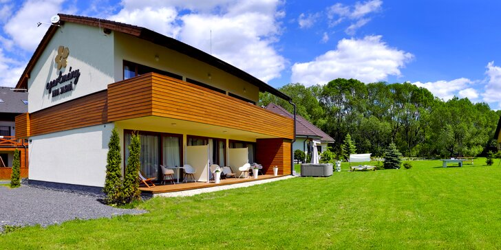 Pobyt v Demänovej v moderných apartmánoch s terasou a detským ihriskom