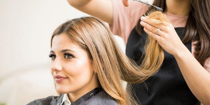 Dámsky strih s fúkanou alebo botoxová kúra na vlasy v kaderníctve MMK