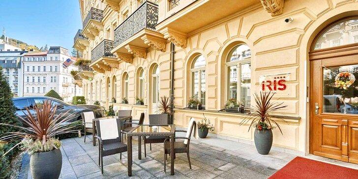 4* hotel iba 2 minúty od kolonády: raňajky alebo polpenzia, neobmedzený vstup do wellness a procedúry