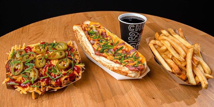 Hot dog či Poutine aj s bezodným nápojom od Chuck & Frida Bory Mall