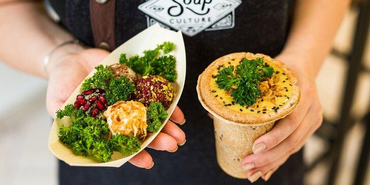 Vegetariánske a vegánske pochúťky na take away v Soupculture