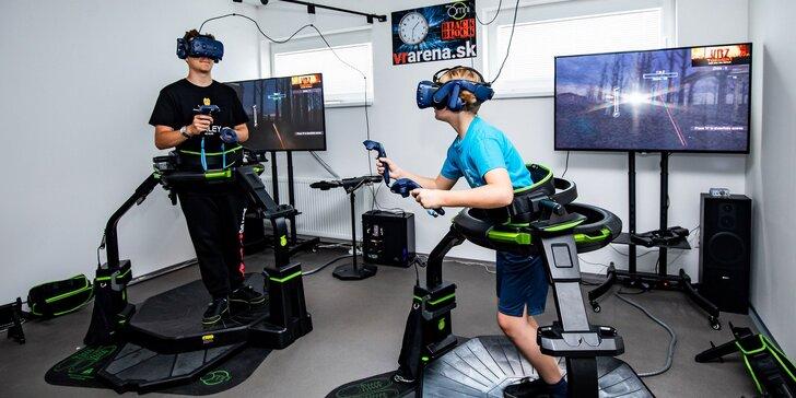 Vyskúšajte pohybový simulátor Virtuix Omni™ vo VR aréne
