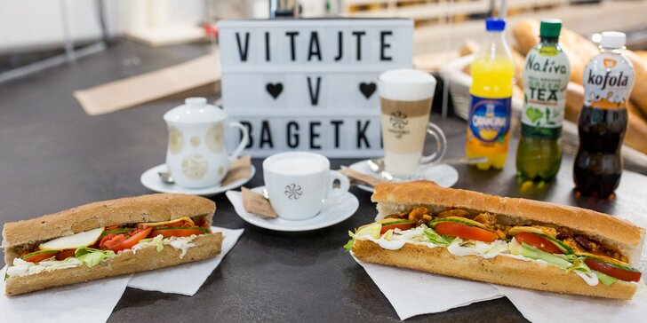 Nadupaný sendvič alebo raňajkové menu v Bagetke