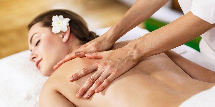 Klasická, aromaterapeutická či lahodná čokoládová masáž