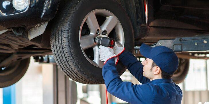 Výmena kolies alebo kompletné prezutie pneumatík v Šali