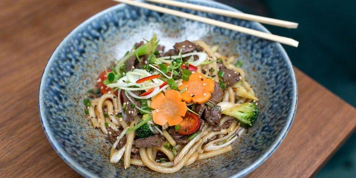 Udon rezance s hovädzím mäsom a teriyaki omáčkou – rozvoz v rámci Košíc