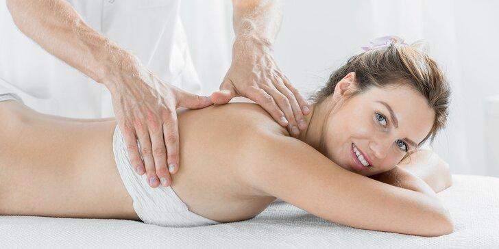 Masáže podľa vlastného výberu - Breussova masáž, Dornova metóda, masáž chodidiel či klasická masáž