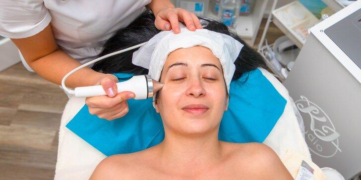 Ošetrenia pre nádhernú pleť: kavitačný peeling, sonoforéza, chemický peeling, LED terapia, masáž či ultrazvuk