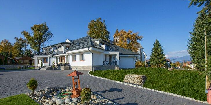 Luxusná Villa Bellevue s privátnym wellness v tichej časti Demänovskej doliny s výhľadom na Tatry