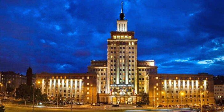 Legendárny Hotel International: pobyt s jedlom i romantika s masážou, skvelá dostupnosť do centra