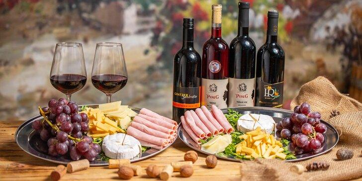 Ochutnávka sudových aj fľaškových vín s misou pochutín pre 2 osoby