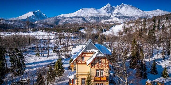 Nezabudnuteľný pobyt v prekrásnej Ville Meribel**** v Tatranskej Lomnici