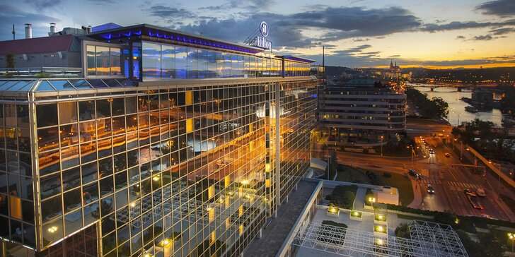 5* pobyt v hoteli Hilton pri Vltave: raňajky, neobmedzený vstup do wellness, neskorší chceck-out a zážitok podľa vlastného výberu