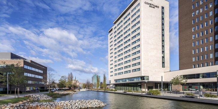 Moderný hotel siete Marriott v Brne: raňajky alebo polpenzia a zľavy na atrakcie vďaka karte Brnopas