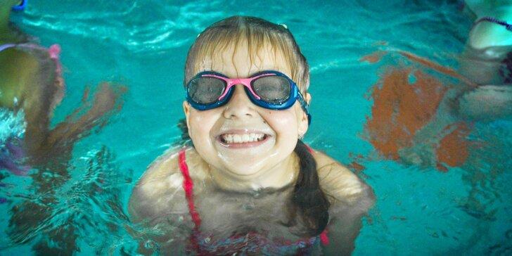 10-hodinový skupinový kurz plávania pre deti od 4 do 13 rokov