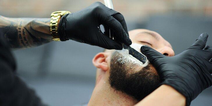 Štýlový strih, čistenie pleti a úprava brady aj obočia v Barber family