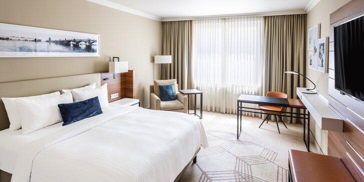 Luxusný 5* hotel Marriott v centre Prahy: pobyt s raňajkami, fľaša Prosecca,1 dieťa do 11,9 rokov zdarma