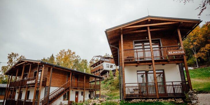 Pobyt v apartmánových domčekoch PLANINA s privátnym wellness v obľúbenom rezorte Predná Hora