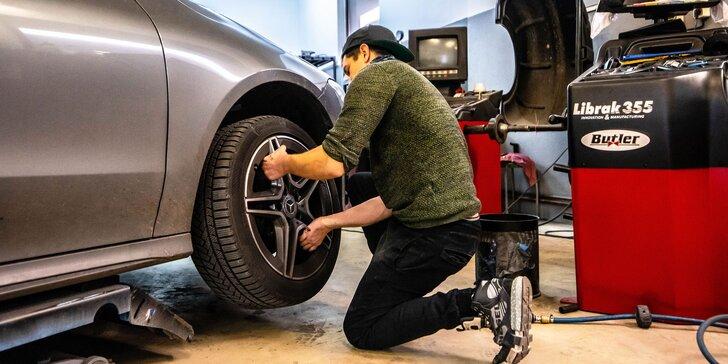 Prezutie alebo výmena kolies a kontrola stavu vozidla