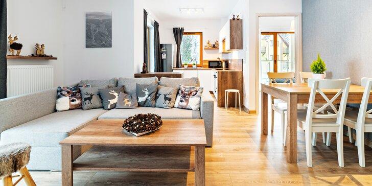 Jarný alebo letný pobyt v Karpaczi až pre 4 osoby: moderné apartmány s kuchynkou