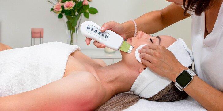 Hĺbkové, relaxačné či kompletné ošetrenie pleti s ultrazvukom alebo galvanickou žehličkou