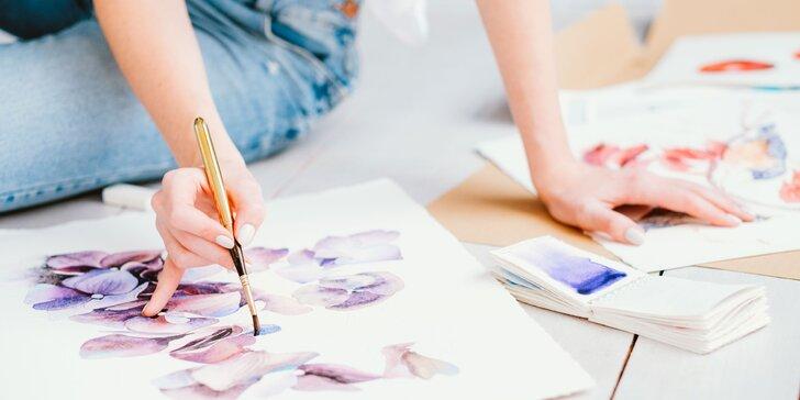 ONLINE KURZ akvarelovej maľby pre začiatočníkov či mierne pokročilých