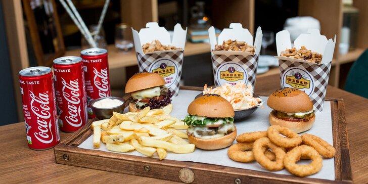 MIX BOX plný mini burgerov, kebabu a príloh pre 3 osoby - len rozvoz