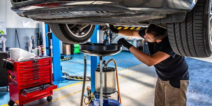 Výmena oleja i filtrov, kontrola stavu vozidla či VIP servis
