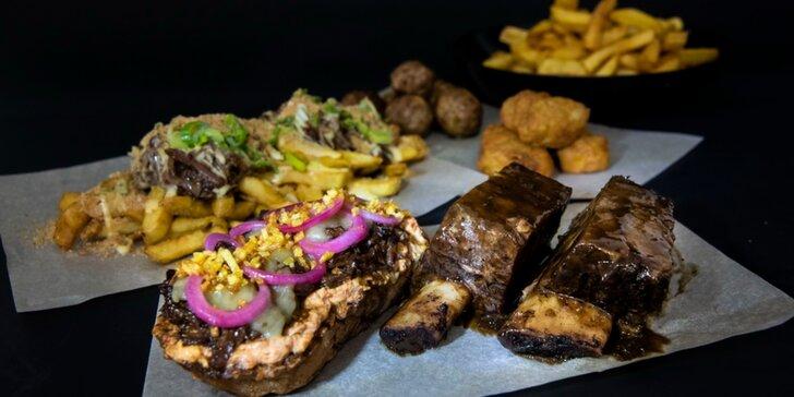 MANNO: Špeciality z hovädzích rebier alebo double cheese & bacon burger - donáška v cene