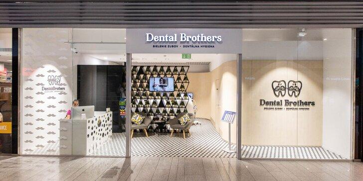 Žiarivo biely úsmev už za pár minút! Dental Brothers sú pre vás stále otvorení.