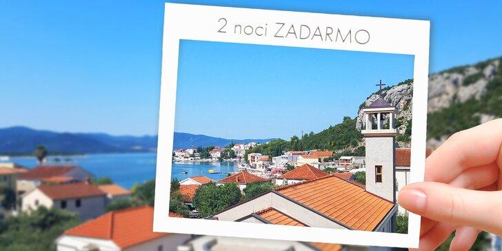 🌞 KÚP teraz, využi v LETE: Dovolenka v Chorvátsku, šum Jadranu a apartmány 5 minút od pláže