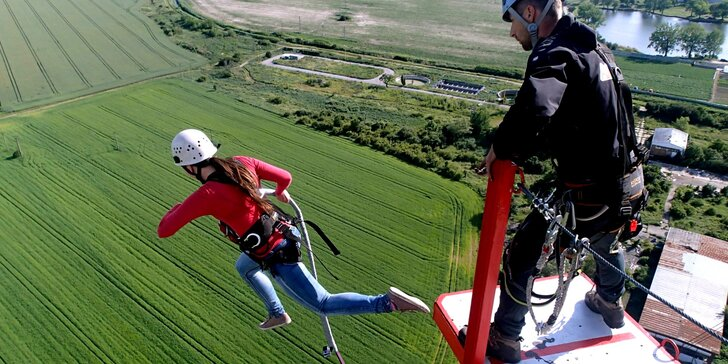 Tandemový zoskok zo 110 metrovej veže ACTION TOWER pre 1 alebo 2 osoby