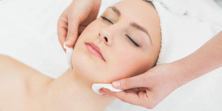 Prístrojové čistenie pleti s masážou alebo kyslíkové ošetrenie pleti