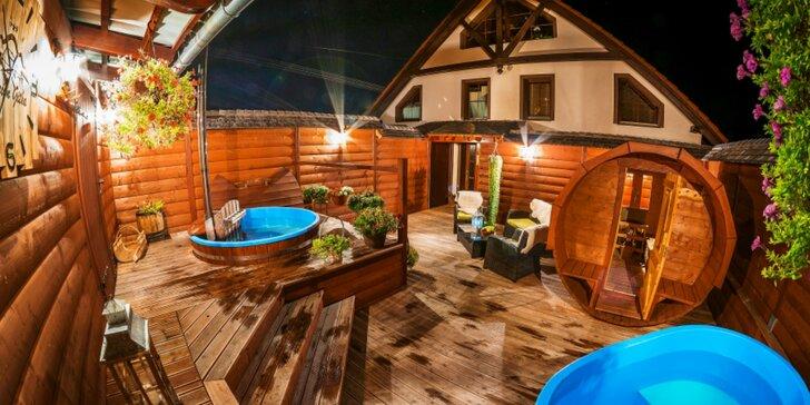 Relaxačný pobyt s wellness pod holým nebom v modernom penzióne Gitka***