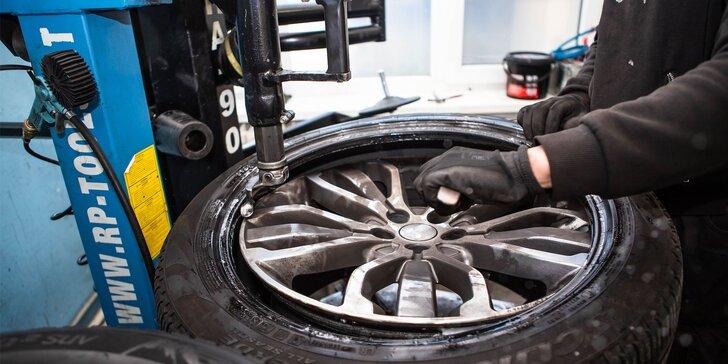 Výmena zimných pneumatík či kolies za letné s vyvážením a kontrolou vozidla
