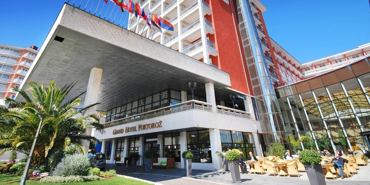 Dovolenka v slovinskom meste Portorož: 5* hotel pri mori, wellness a raňajky