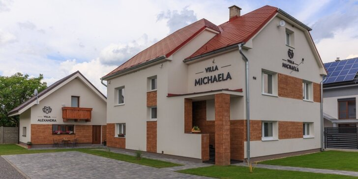 Pobyt na Liptove v novootvorených vilách s plne vybavenou kuchyňou a kúpeľňou