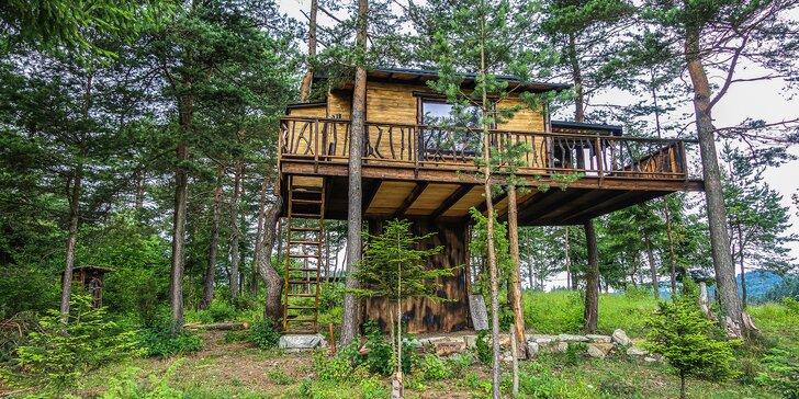 Rozprávkový pobyt v domčeku na strome v blízkosti Pieninského národného parku