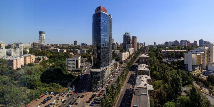 Pobyt v centre Kyjeva s raňajkami a výhľadom na mesto