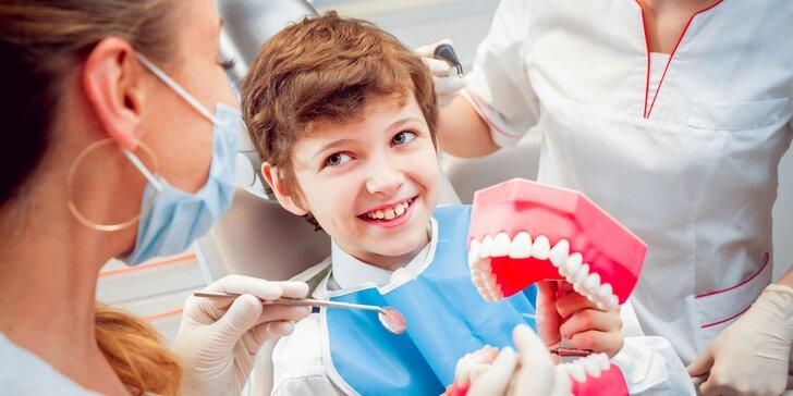 Komplexné vstupné vyšetrenie, dentálna hygiena pre deti i dospelých či bielenie zubov