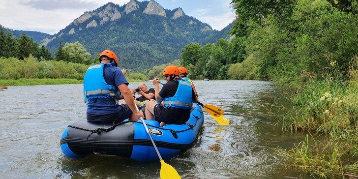 Splav Dunajca na rafte (18 km) cez Pieniny s kompletným výstrojom pre 5 až 9 osôb