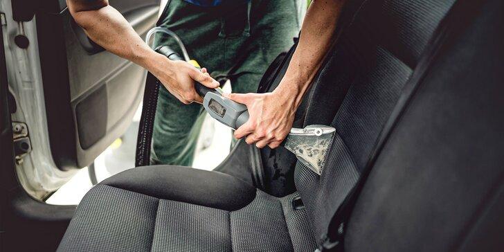 Profesionálne ručné čistenie interiéru alebo exteriéru vozidla parou