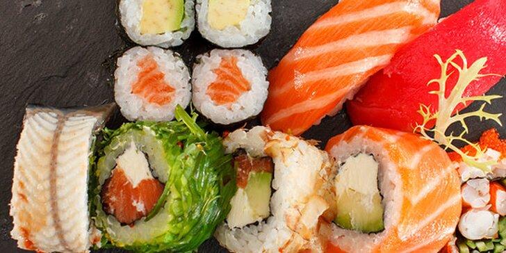 Delikátne sushi menu pre dvoch v Auparku